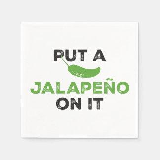 Put a Jalapeño On It Texas Napkins Standard Cocktail Napkin