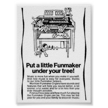 Art Themed Put a Little Funmaker under your tree. Poster