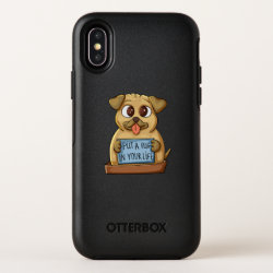 OtterBox Apple iPhone X Symmetry Case with Pug Phone Cases design
