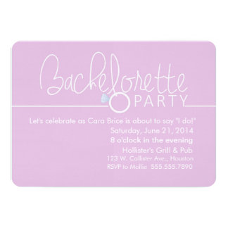 Put a Ring On It Bachelorette Party Card