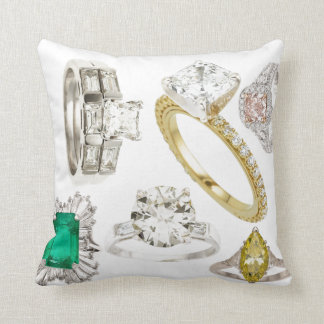 Put A Ring On It Sofa Bling Diamonds Jewelry Hint Throw Pillow