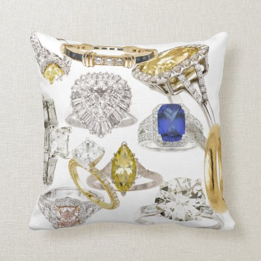 Put A Ring On It Sofa Bling Diamonds Jewelry Hint Throw Pillows Zazzle