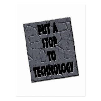 PUT A STOP TO TECHNOLOGY POSTCARD