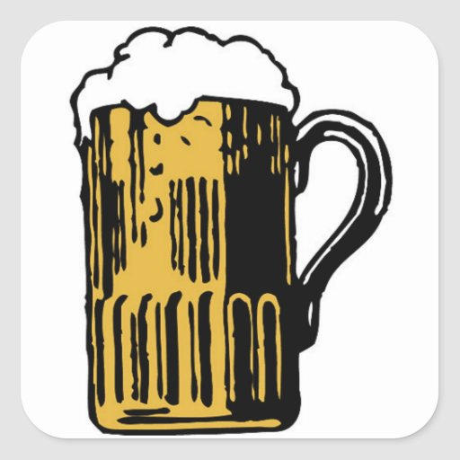 PUT BEER ON IT SQUARE STICKER