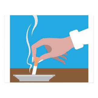 Put cigarette down postcard
