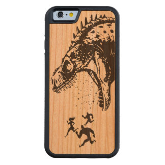 put down the beer and mow the lawn dinosaur LOL Carved® Cherry iPhone 6 Bumper Case
