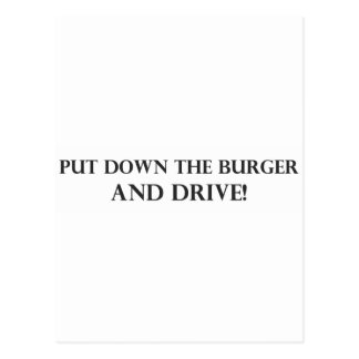 Put Down the Burger and Drive.pdf Postcard