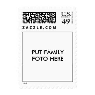 """Put family foto here"" Stamps"