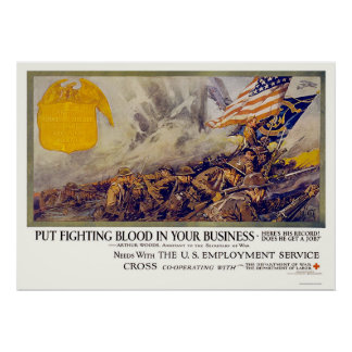 Put fighting blood in your business poster