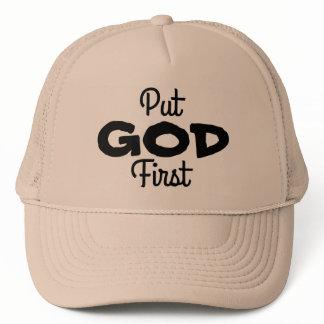 Put GOD First Trucker Hat