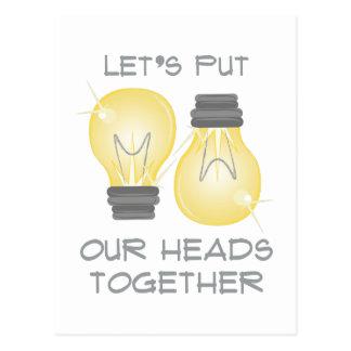 Put Heads Together Postcard