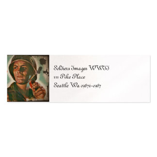 Put Him First WWII Food Rations Mini Business Card