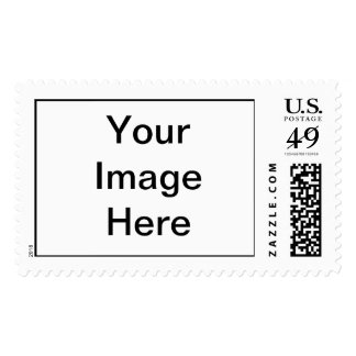Put Image Text Logo Here Create Make My Own Design Postage Stamps