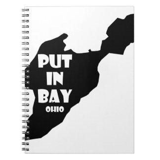 Put In Bay Island Ohio Silhouette Logo Lake Erie Notebook