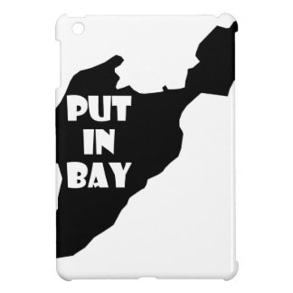 Put In Bay Island Ohio Silhouette Logo with Text iPad Mini Case