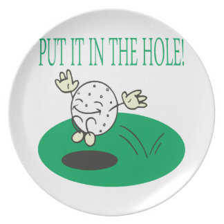 Put It In The Hole Dinner Plate