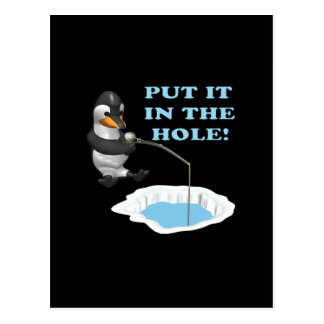 Put It In The Hole Postcard