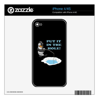 Put It In The Hole Decals For The iPhone 4