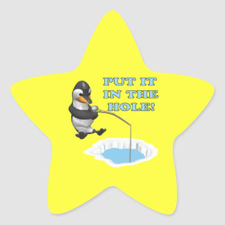 Put It In The Hole Star Sticker