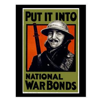 Put It Into National War Bonds Post Card