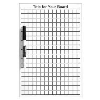 Put it on the Grid Dry Erase Board