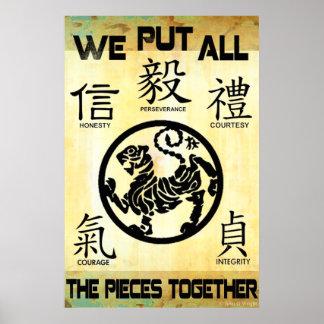 Put It Together Martial Arts Poster