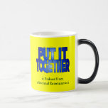 Put It Together 11 Oz Magic Heat Color-Changing Coffee Mug