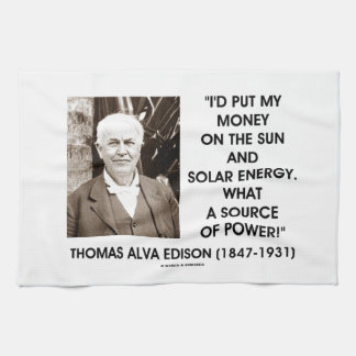 Put My Money On Sun Solar Energy Source Of Power Hand Towel