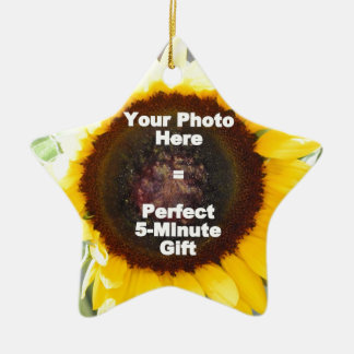 Put My Own Personalized Photo On Quick Easy Gift Ceramic Ornament