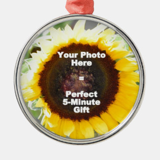 Put My Own Personalized Photo On Quick Easy Gift Metal Ornament