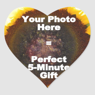 Put My Own Personalized Photo On Quick Easy Gift Heart Stickers
