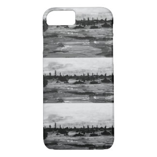 Put-n-Bay Black and White boat painting iPhone 7 Case