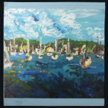 """Put-n-Bay Lake Erie Island Painting #1 Cloth Napkin<br><div class=""""desc"""">Put-n-Bay Lake Erie Island Painting #1 by Therese Dietzel of Willowcatdesigns</div>"""