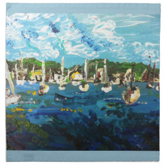 Put-n-Bay Lake Erie Island Painting #1 Cloth Napkin