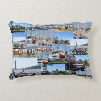 Put-n-Bay, Ohio Marina Photo Collage Pillow