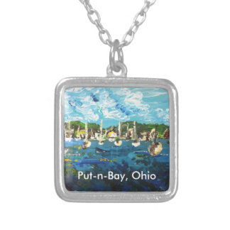 Put-n-Bay Painting #1 Silver Plated Necklace