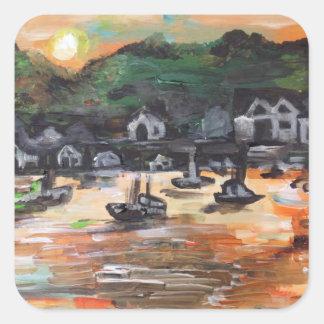 Put-N-Bay Painting #3 Square Sticker