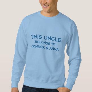 Put niece and nephew names on Uncle's Sweatshirt