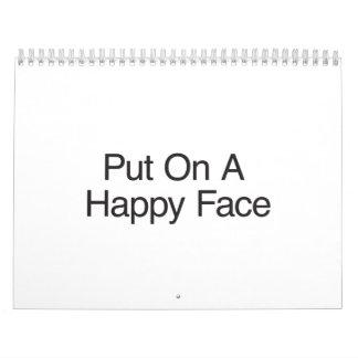 Put On A Happy Face.ai Wall Calendars
