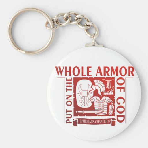 PUT ON THE WHOLE ARMOR OF GOD KEYCHAIN