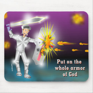 Put on the Whole Armor of God Mouse Pad