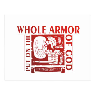 PUT ON THE WHOLE ARMOR OF GOD POSTCARD