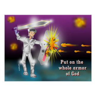 Put on the Whole Armor of God Poster