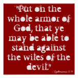 """Put on the whole armor of God, that ye may be ... Poster"