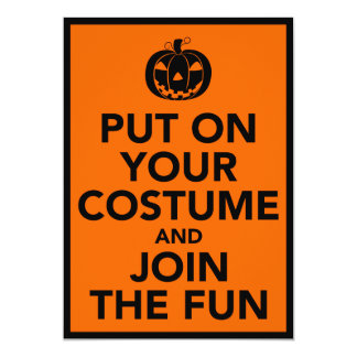 Put on Your Costume and Join the Fun Invitation