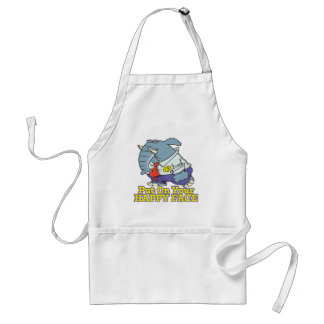 put on your happy face facade elephant apron