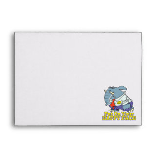 put on your happy face facade elephant envelope