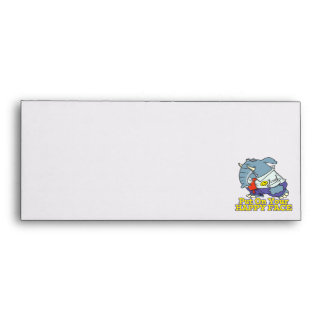 put on your happy face facade elephant envelopes