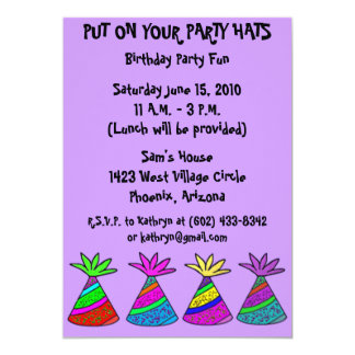 Put on your party hats invitation
