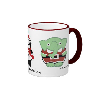 put on your red suit! ringer coffee mug